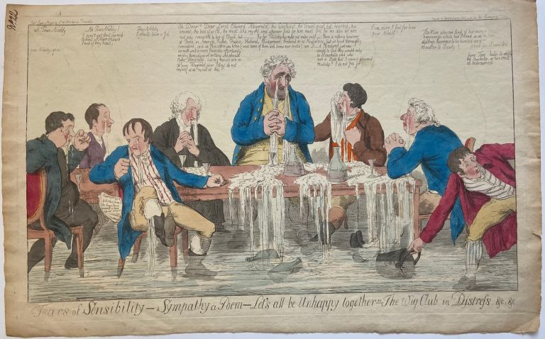 Tears of sensibility- sympathy a poem- let's all be unhappy together ie the Whig club in distress &c, &c. S. W. FORES.