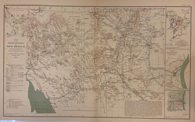 Map of the Military Department of New Mexico. Julius BIEN, Allen ANDERSON.