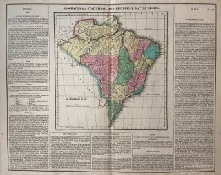 Geographical, Statistical, and Historical Map of Brazil. CAREY, LEA.
