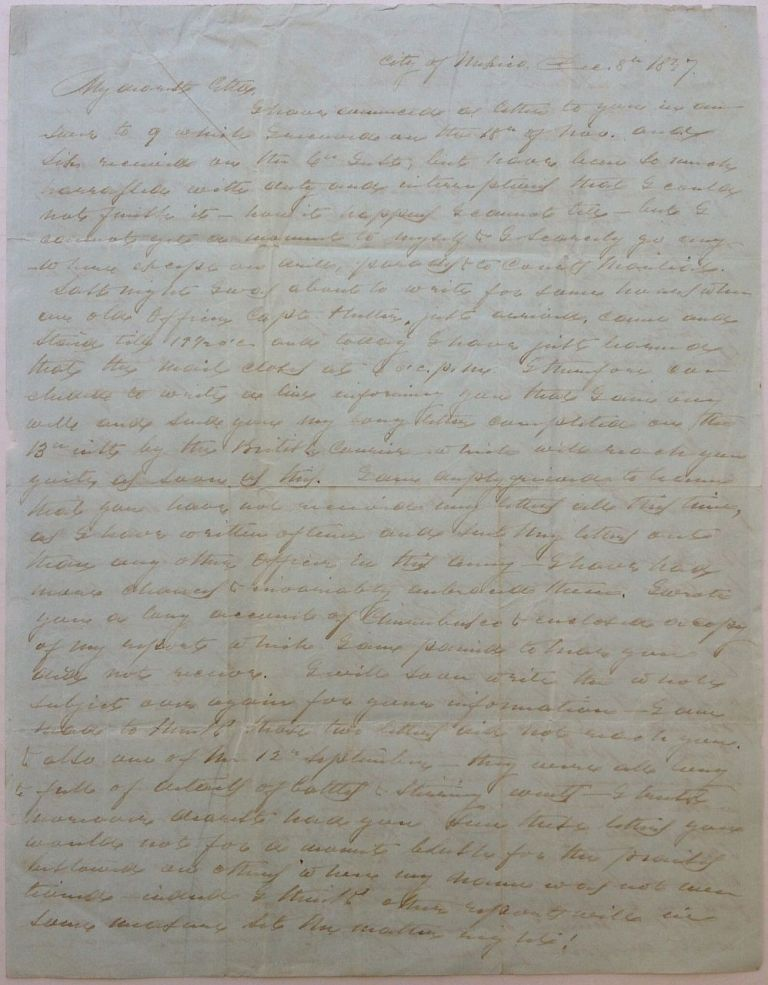Autographed Letter Signed to his wife. Daniel RUGGLES.