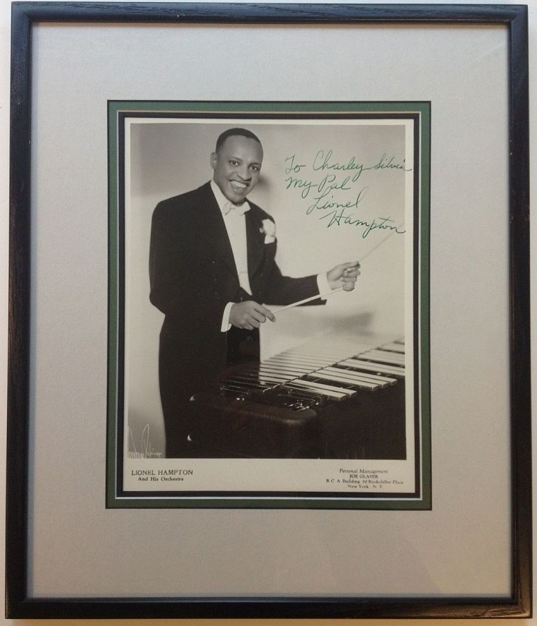 Inscribed Photograph Framed. Lionel HAMPTON, 1908 - 2002.