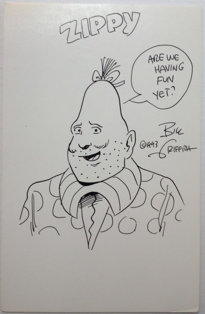Original Signed Drawing of Zippy the Pinhead. Bill GRIFFITH, 1944 -.