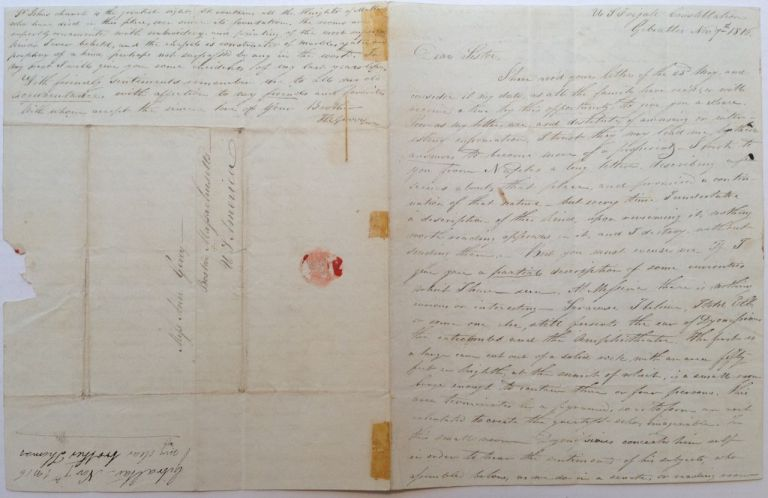 Lengthy Autographed Letter Signed about his trip to Italy. GERRY FAMILY -- R. Gerry.