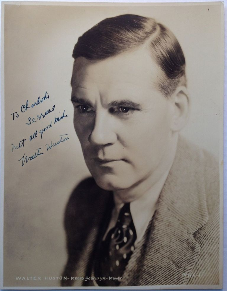 Inscribed Vintage Photograph. Walter HUSTON, 1883 - 1950.