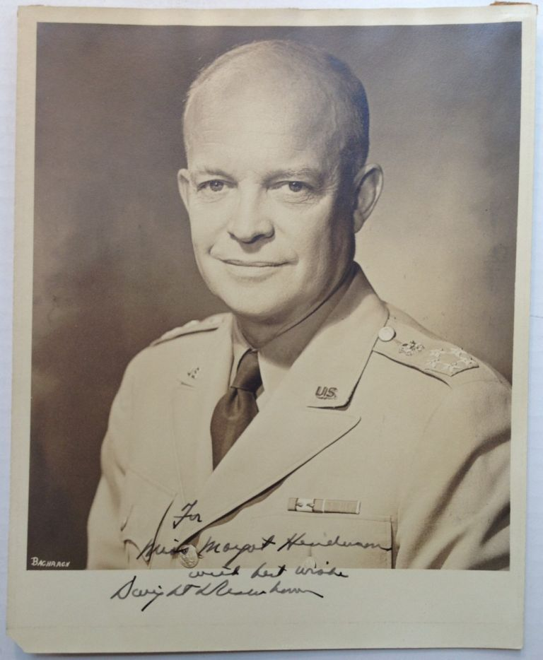Inscribed Vintage Photograph. Dwight D. EISENHOWER, 1890 - 1969.