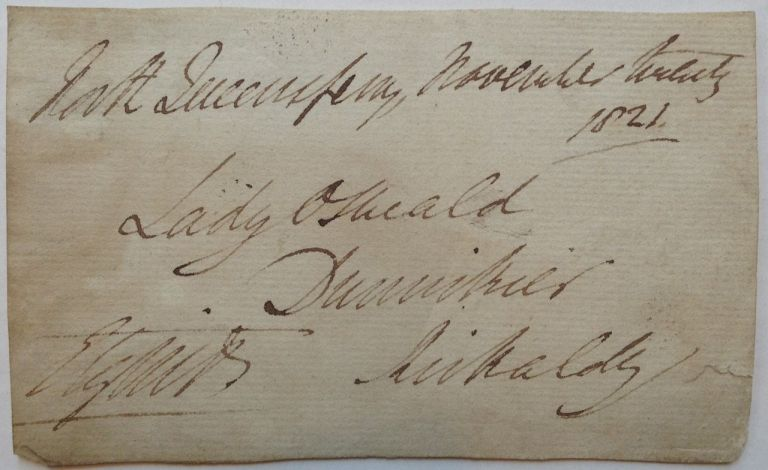 Autographed Envelope Fragment Signed. 7th Earl ELGIN, Thomas Bruce, 1766 - 1841.