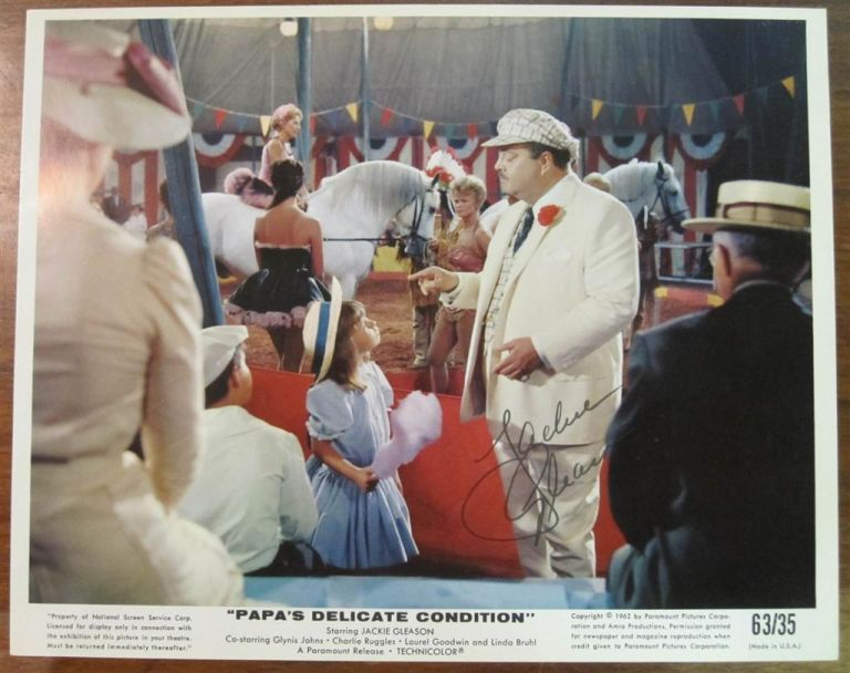 Signed Production Still. Jackie GLEASON, 1916 - 1987.