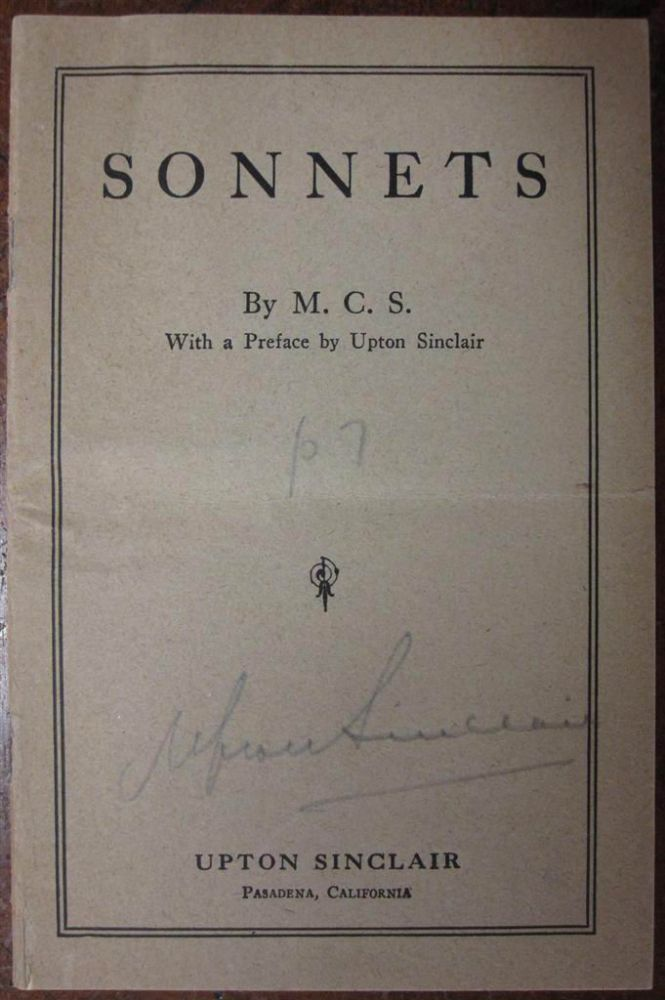 Sonnets by M.C.S. Upton SINCLAIR.