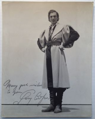 Inscribed Vintage Photograph. Gary COOPER, 1901 - 1961