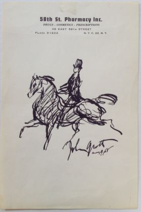 Original pen-and-ink sketch. John GROTH, 1908 - 1988