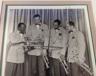 Framed Signed Photograph of Lionel Hampton's brass section