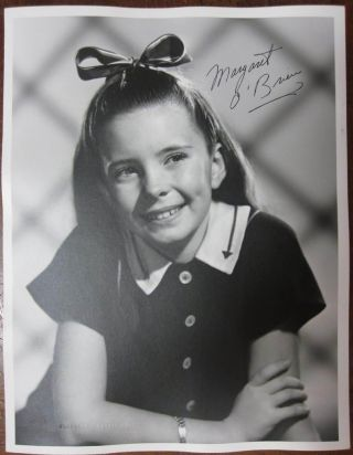 Signed Photograph. Margaret O'BRIEN, 1937
