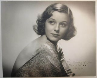 Inscribed Photograph. Margaret SULLAVAN, 1909 - 1960