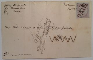 Autographed Envelope. Alfred Lord TENNYSON, 1809 - 1892