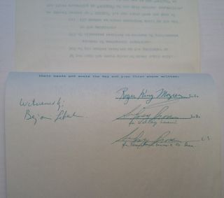 Typed Letter Signed accompanied by a Signed Termination Contract