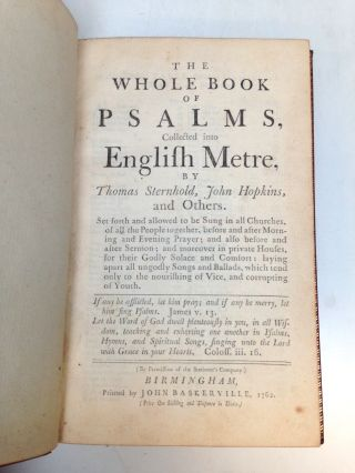The Whole Book of Psalms, Collected into English Metre.