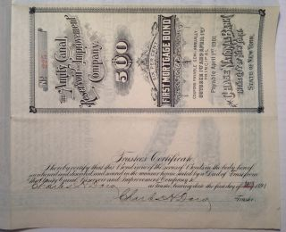 Signed Mortgage Bond. Charles Henry DOW, 1851 - 1902.