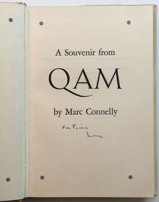 A Souvenir From Qam. Marc CONNELLY