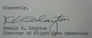 Typed Letter Signed on NASA letterhead about dreams in space
