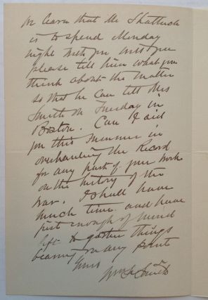 Autographed Letter Signed to a Civil War historian