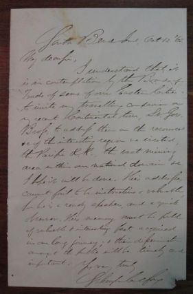Autographed Letter Signed. Schuyler COLFAX, 1823 - 1885