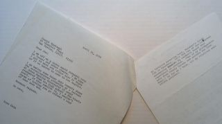 Typed Letter Signed to Leon Uris