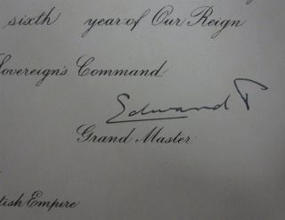 Document Signed by Two Kings