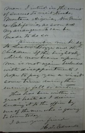 Lenghty Autographed Letter Signed by a drill inventor