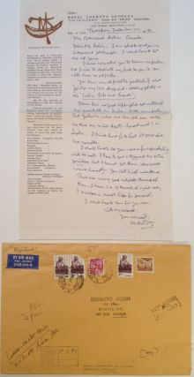 Autographed Letter Signed on personal letterhead. Mukul Chandra DEY, 1895 - 1989