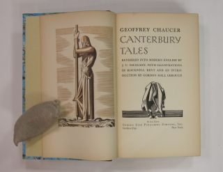 The Canterbury Tales, Rendered into Modern English by J. U. Nicolson, with many illustrations by Rockwell Kent.