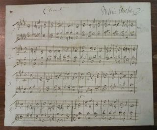 Autographed Musical Quotation. Frederic ARCHER, 1838 - 1901