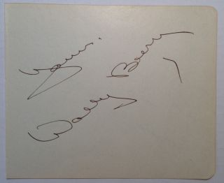 Signed Page from an Autograph Album. Wallace BEERY, Freddie BARTHOLOMEW