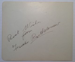 Signed Page from an Autograph Album