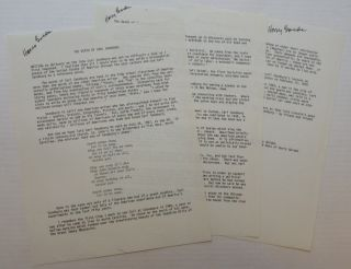 Typescript Signed Three Times. Harry Lewis GOLDEN, 1902 - 1981