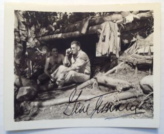 Signed Photograph from World War II. Gene TUNNEY, 1897 - 1978.