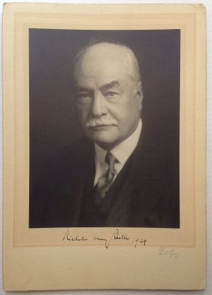 Signed Photograph. Nicholas Murray BUTLER, 1862 - 1947