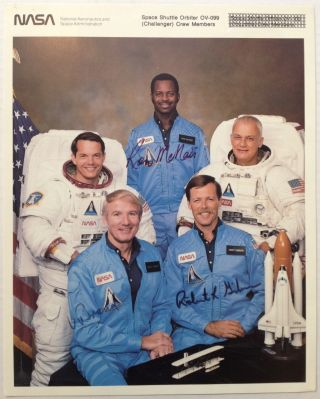 Signed NASA Photograph. CHALLENGER SPACE SHUTTLE -- 4th Flight