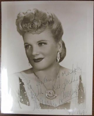 Inscribed Vintage Photograph. Marjorie LAWRENCE, 1907 - 1979