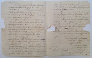 Autographed Letter Signed about Tobacco. Staats MORRIS, 1765 - 1826