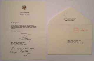 Typed Letter Signed with a Handwritten Postscript. Jimmy CARTER, 1924