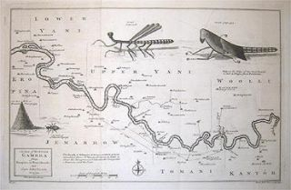 A Map of the River Gambra from Eropina to Barrakunda. Capt. John LEACH.