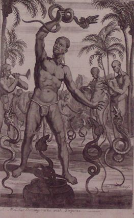 A Malabar Showing Tricks with Serpents. Johan NIEUHOFF