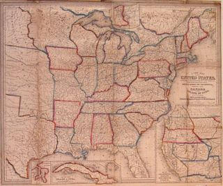 A New Map of the United States. Upon which are delineated its vast works of Internal...
