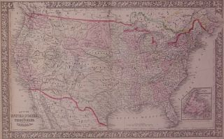 Map of the United States, and Territories. Together with Canada &c. Wellington WILLIAMS