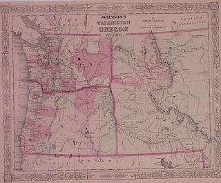 Johnson's Washington, Oregon & Idaho. JOHNSON, WARD.