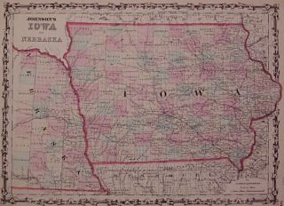 Johnson's Iowa and Nebraska. JOHNSON, BROWNING.