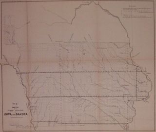 Sketch of the Public Surveys in Iowa and Dakota. (No. 2). SURVEYOR GENERAL'S OFFICE