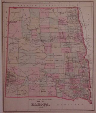 County and Township Map of Dakota. William M. BRADLEY
