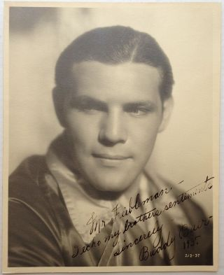 Signed Photograph. Buddy BAER, 1915 - 1986