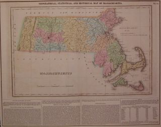 Geographical, Statistical, and Historical Map of Massachusetts. CAREY, LEA